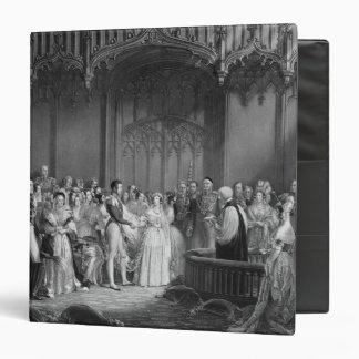 """Boda de la reina Victoria y del Príncipe Alberto Carpeta 1 1/2"""""""
