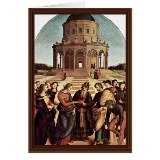 Boda de la Virgen de Raffael (la mejor calidad) Tarjeta De Felicitación