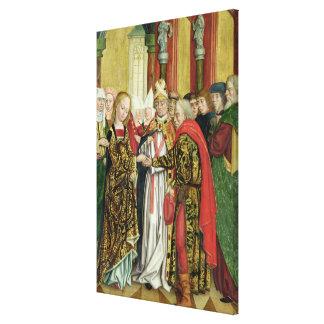 Boda de la Virgen, del altar de la bóveda, 1499 Impresión En Tela
