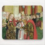 Boda de la Virgen, del altar de la bóveda, 1499 Alfombrillas De Ratones