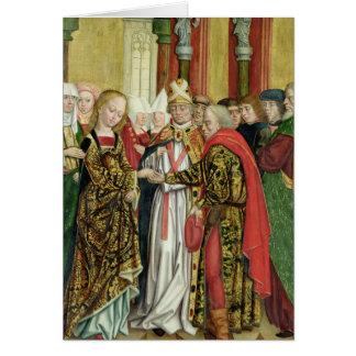 Boda de la Virgen, del altar de la bóveda, 1499 Tarjeta De Felicitación