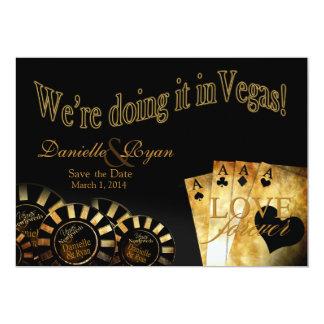 Boda de lujo de Daniela y de Ryan Las Vegas Invitación 12,7 X 17,8 Cm