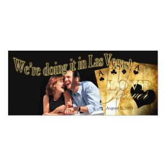 Boda de lujo de la foto de Las Vegas Invitación 10,1 X 23,5 Cm