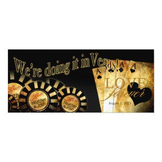 Boda de lujo de Las Vegas Invitación 10,1 X 23,5 Cm