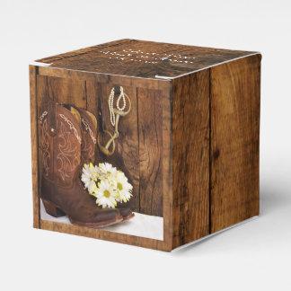 Boda de madera del caballo de las margaritas de cajas para regalos de boda