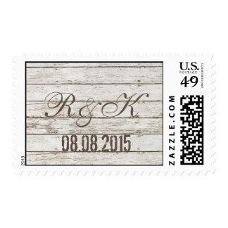boda de madera del granero del granero blanco timbres postales