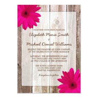 Boda de madera del granero rústico rosado de la