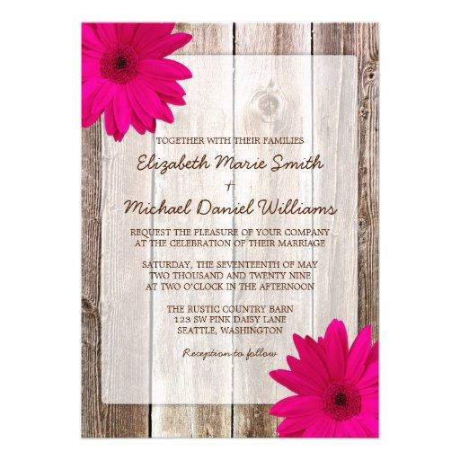 Boda de madera del granero rústico rosado de la ma anuncio