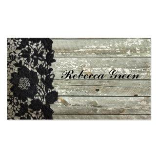 Boda de madera del país del granero negro elegante tarjetas personales