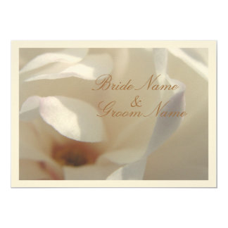 """Boda de marfil romántico de la magnolia invitación 5"""" x 7"""""""