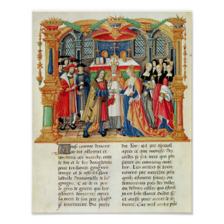 Boda de Maria de Borgoña y de Maximiliano I Póster