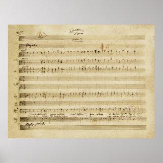 Boda de Mozart de la impresión del manuscrito de