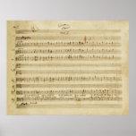 Boda de Mozart de la impresión del manuscrito de F Póster