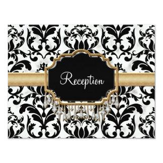 Boda de oro apenado envejecido de la mirada de invitación 10,8 x 13,9 cm