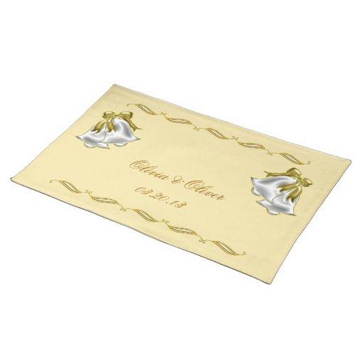 Boda de oro mantel individual