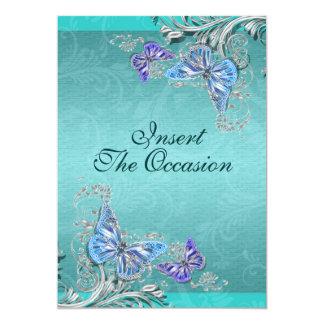 Boda de plata azul del compromiso del cumpleaños invitación