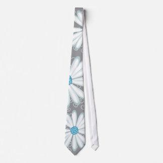Boda de plata de la flor salvaje de la margarita b corbata
