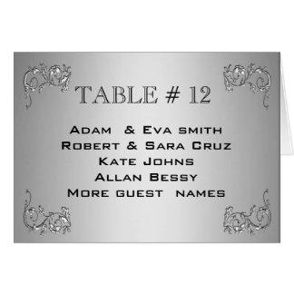 Boda de plata elegante de la plantilla del número tarjeta pequeña