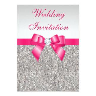 Boda de plata impreso del arco de las rosas comunicados personalizados