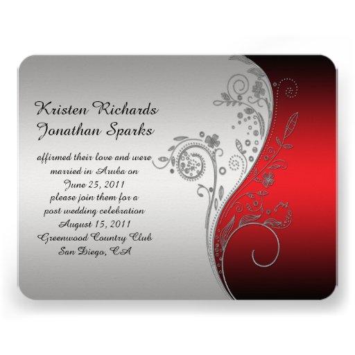 boda de plata negro rojo del poste de la flor anuncios personalizados