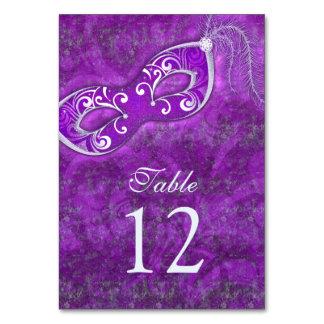 Boda de plata púrpura del carnaval de la bola de m