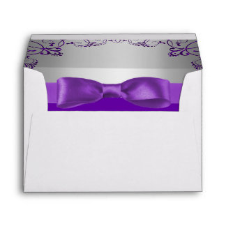 Boda de plata y púrpura de Scrollwork