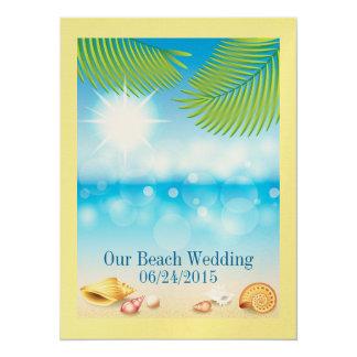 """Boda de playa/acontecimiento - SRF Invitación 5.5"""" X 7.5"""""""