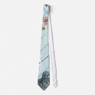 Boda de playa azul de madera elegante de los corbata