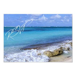 Boda de playa de Bahamas RSVP Comunicado Personalizado