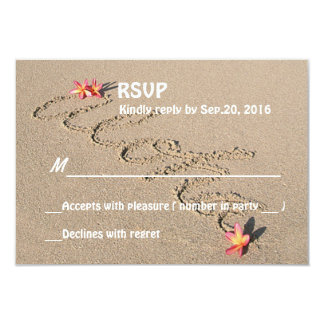 Boda de playa de la flor del Plumeria de la