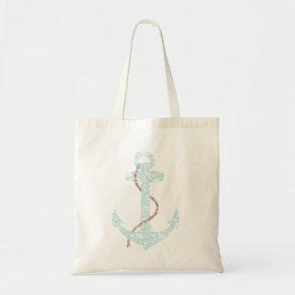 Boda de playa de la marina de guerra y del ancla d bolsa de mano