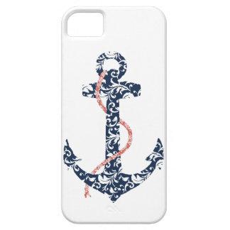 Boda de playa de la marina de guerra y del ancla iPhone 5 funda