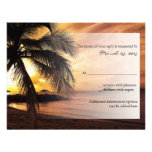 Boda de playa de la puesta del sol RSVP Invitacion Personalizada