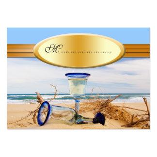Boda de playa de la tarjeta del asiento de la tarjetas de visita grandes