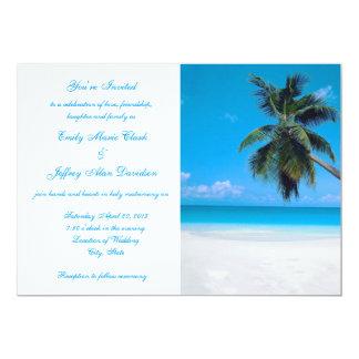 Boda de playa del destino de la invitación