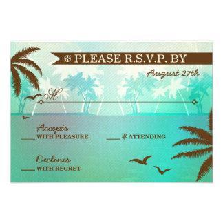 Boda de playa escénico del trullo tropical RSVP Anuncios Personalizados