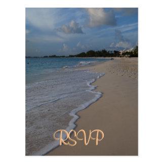 Boda de playa especial de RSVP Postales