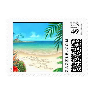 Boda de playa exótico de Shelley y de Dan:: Sello