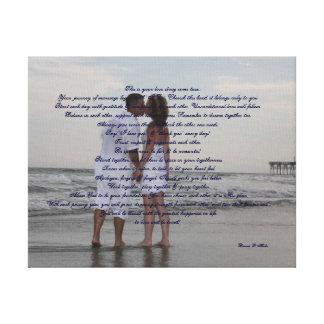 """Boda de playa """"hago """" impresiones en lienzo estiradas"""