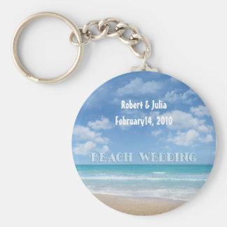 Boda de playa (personalizable) llavero
