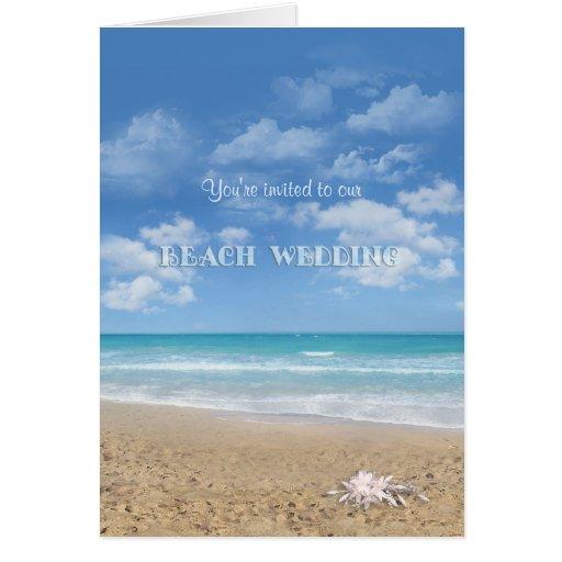 Boda de playa (personalizable) tarjetón