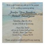 Boda de playa romántico especial comunicado personalizado