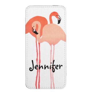 Boda de playa rosado de los flamencos funda para iPhone 5