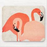 Boda de playa rosado de los flamencos tapetes de ratones