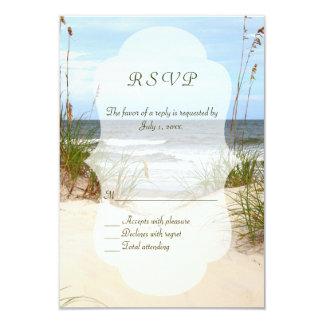 Boda de playa RSVP Invitación 8,9 X 12,7 Cm