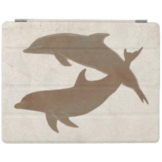Boda de playa rústico de los delfínes cubierta de iPad