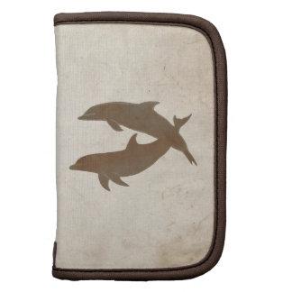 Boda de playa rústico de los delfínes planificadores