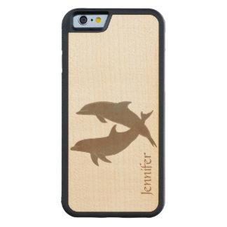 Boda de playa rústico de los delfínes funda de iPhone 6 bumper arce