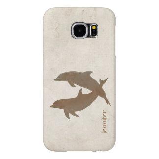 Boda de playa rústico de los delfínes fundas samsung galaxy s6