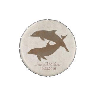 Boda de playa rústico de los delfínes frascos de dulces